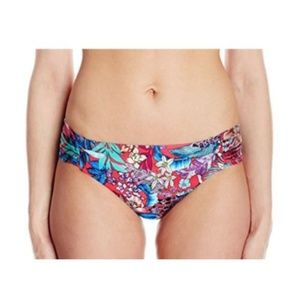 Kenneth Cole Tropical Floral Bikini Bottom Ruched